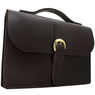 JP Marcellino Havana Fine Bridle Medium-Size Briefcase