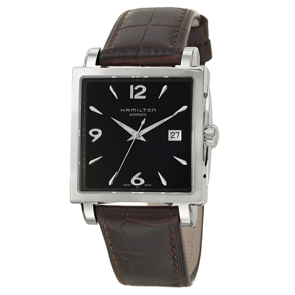 Hamilton Men's 'Jazzmaster' Stainless Steel Swiss Automatic Watch
