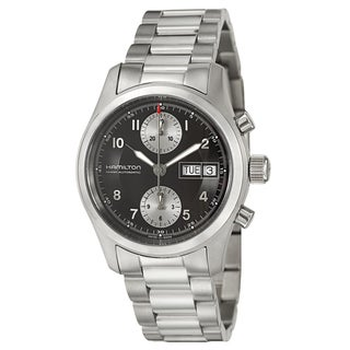 Hamilton Men's 'Khaki Field' Stainless Steel Swiss Automatic Watch
