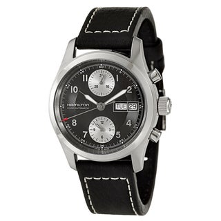 Hamilton Men's 'Khaki Field' Black Dial Swiss Automatic Watch