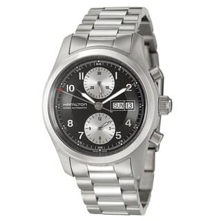 Hamilton Men's 'Khaki Field' Black Dial Steel Swiss Automatic Watch