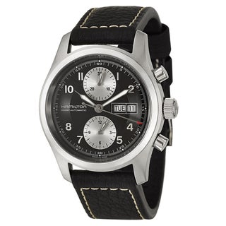 Hamilton Men's 'Khaki Field' Black Strap Swiss Automatic Watch