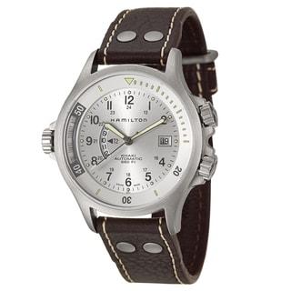 Hamilton Men's 'Khaki Navy' Stainless Steel Swiss Automatic Watch