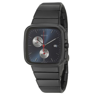 Rado Men's 'R5.5' Black Ceramic Swiss Quartz Watch