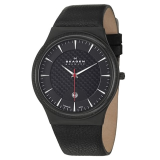Skagen Men's 'Titanium' Black Titanium Carbon Fiber Watch