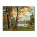 Albert Bierstadt 'A Quiet Lake' Canvas Art