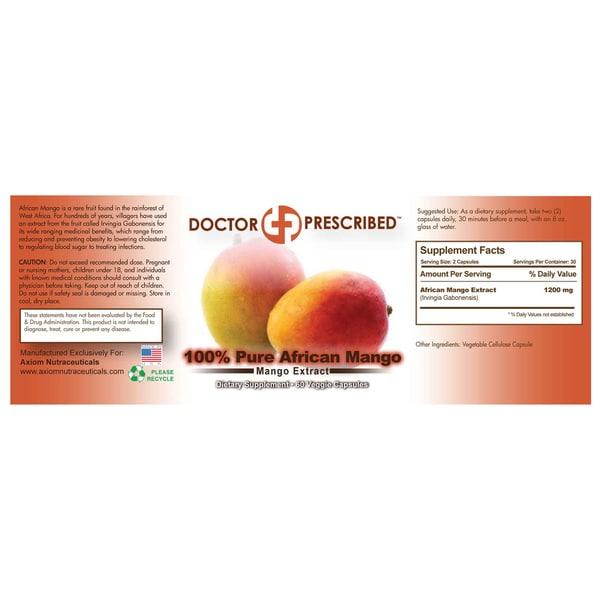 Doctor Prescribed Pure African Mango (60 Capsules)