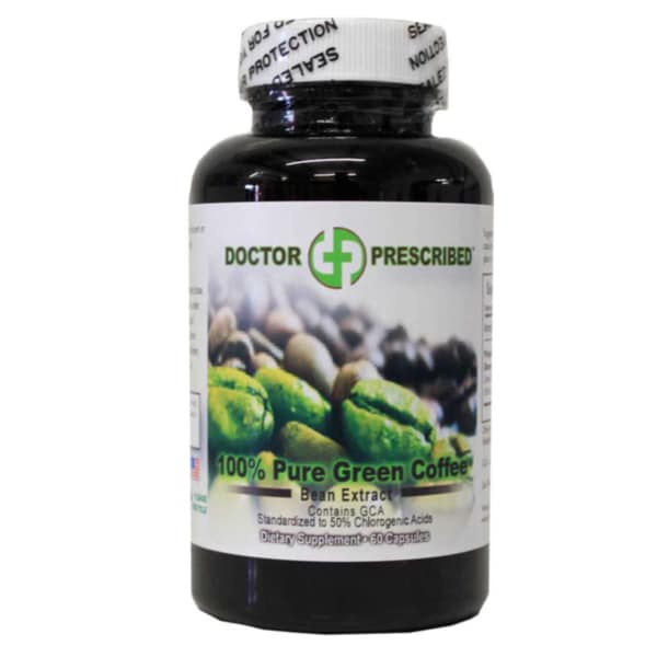 Pure Green Coffee Bean Extract with GCA (60 Capsules)