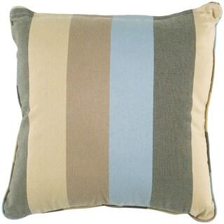 'Stella' Beige Striped Indoor/Outdoor Throw Pillow