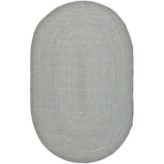 Safavieh Reversible Braided Multi Cotton Rug (9' x 12' Oval)