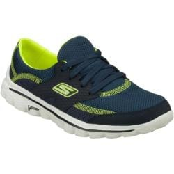 Women's Skechers GOwalk 2 Stance Navy/Lime