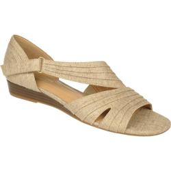 Women's Naturalizer Jane Natural/Gold Metallic Linen