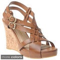 Chinese Laundry Women's Criss-Cross Cork Wedge Sandals