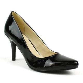 Mark & Maddux Women's 'Jim-01' Black Patent Pointed-toe Heels