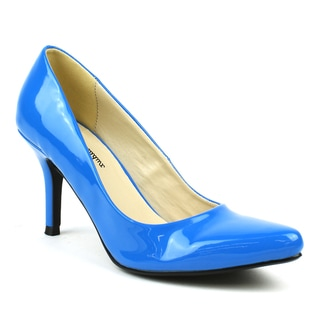 Mark & Maddux Women's 'Jim-01' Blue Patent Pointed-toe Heels
