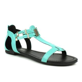 Mint Mark & Maddux Women's 'Tyson-06' Metal Accent Sandals