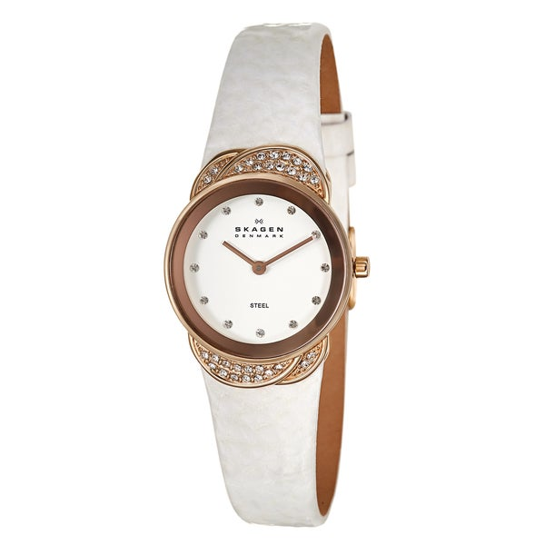 Skagen Women's 'Studio' Rose-goldplated Crystal-accented Watch