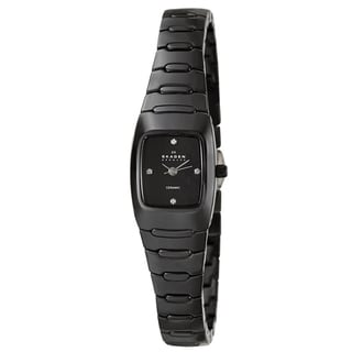 Skagen Women's Black 'Ceramic' Watch