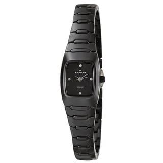 Skagen Women's Black 'Ceramic' Watch