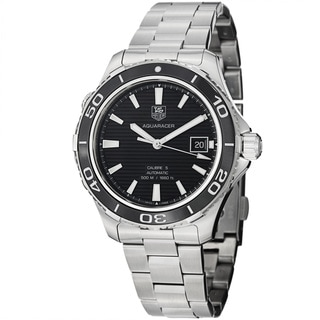 Tag Heuer Men's 'Aquaracer 500' Black Dial Stainless Steel Watch
