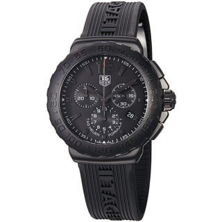 Tag Heuer Men's 'Formula 1' Black Dial Black Rubber Strap Watch