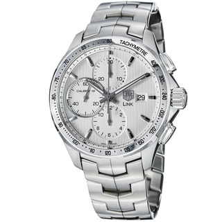 Tag Heuer Men's 'Link' Silver Dial Stainless Steel Chronograph Watch