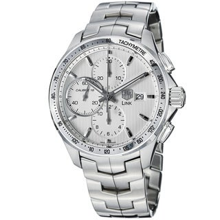 Tag Heuer Men's CAT2011.BA0952 'Link' Silver Dial Stainless Steel Chronograph Watch