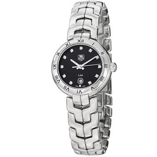 Tag Heuer Women's 'Link' Black Diamond Dial Stainless Steel Watch