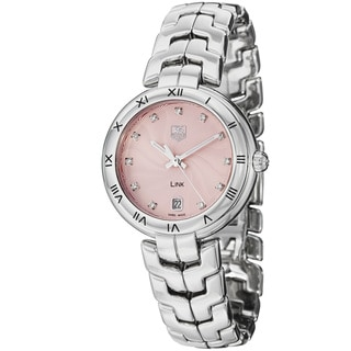 Tag Heuer Women's 'Link' Pink Diamond Dial Stainless Steel Watch