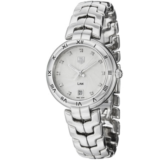 Tag Heuer Women's WAT1311.BA0956 'Link' Silver Diamond Dial Stainless Steel Watch