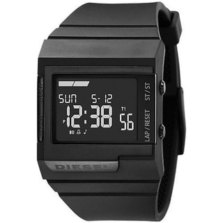 Diesel Men's Black Dial Digital Watch