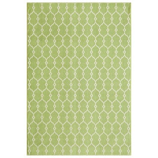 Indoor/Outdoor Green Trellis Rug (1'8 x 3'7)