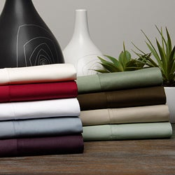 Egyptian Cotton Sateen 400 Thread Count Solid 4-piece Sheet Set