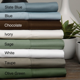 Egyptian Cotton Sateen 630 Thread Count Solid 4-piece Sheet Set