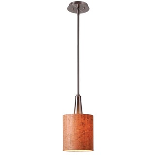 Bachman Brushed Steel/ Cork Shade Mini Pendant