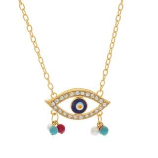 NEXTE Jewelry Goldtone GuardianEye Fashion Necklace
