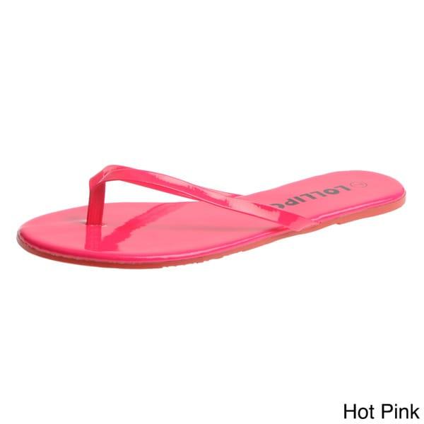 Lollipop Women's 'SURF' Patent Flip-flops