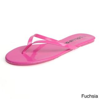 Lollipop Women's Patent Thong Flip-flops