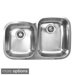 Ukinox D376.60.40.10R 60/40 Double Basin Stainless Steel Undermount Kitchen Sink
