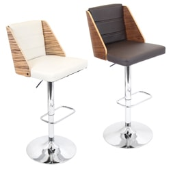 'Galanti' Bent Wood Adjustable Barstool