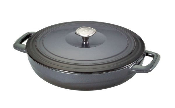 Guy Fieri Graphite Cast Iron 3.5-quart Braiser Pan - 15409265 - Overstock.com Shopping - Great ...