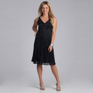 J Laxmi Women's Beaded Cocktail Dress