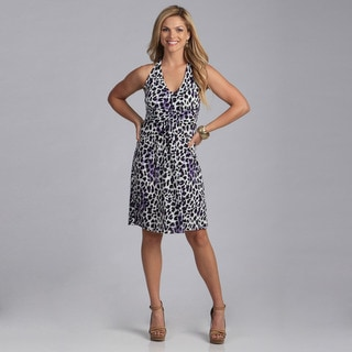 Talia Women's Animal Print Halter Dress