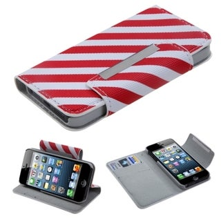 BasAcc Red/ White Stripe MyJacket Wallet For Apple� iPhone 5