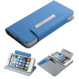 BasAcc Blue Ball Texture MyJacket Wallet For Apple iPhone 5