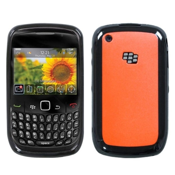 INSTEN Red/ Black Phone Case Cover for Blackberry 8520/ 8530/ 9300 3G/ 9330 3G