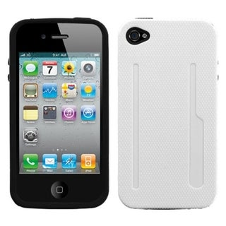 BasAcc Solid Ivory/ Black Fusion Case for Apple iPhone 4S/ 4