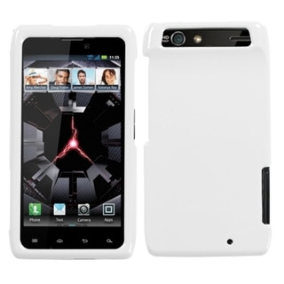INSTEN Solid Ivory Phone Case Cover for Motorola XT912 Droid Razr