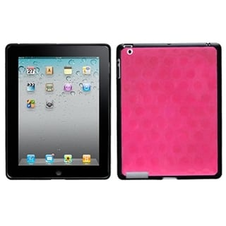 BasAcc Solid Hot Pink/ Black Hole Case for Apple iPad 4
