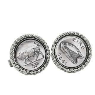 Irish Bull '5 Pence' Cuff Links
